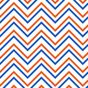 UF Chevron Blue, Orange White