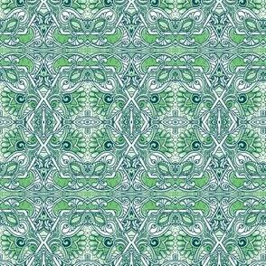 Victorian Gardening (green/teal)