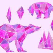 polar bear in purple