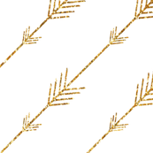 Arrows in Gold Glitter