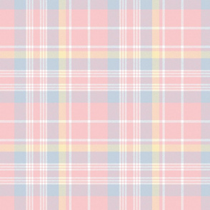 Donmaree Tartan ~ Dauphine, Versailles Fog, Trianon Cream and White ~ Wool