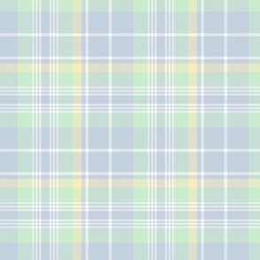 Donmaree Tartan ~  Versailles Fog, Trianon Cream, Viennese Mint and White ~ Wool