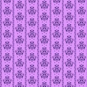 Fancy Felines li purple dk purple