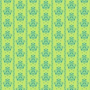 Fancy Felines green blue