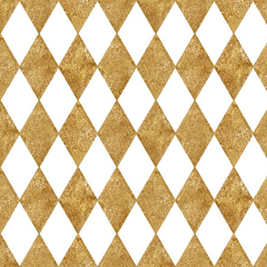 Harlequin Diamonds ~ White and Gilt ~ Mosaic