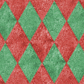 Harlequin Diamonds ~  Christmas ~ Gumdrop Mosaic
