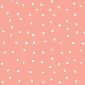 Coral Scribble Dots