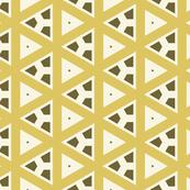 Mustard Triangles Over White