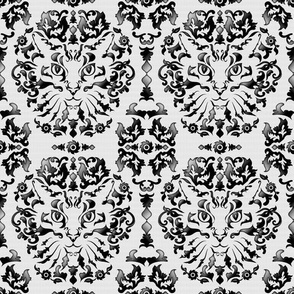 Cat Damask (Black&White)