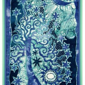 Teal Tree Tapestry