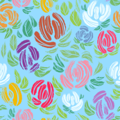 Kayla's Flowers - Blue