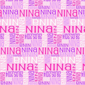 Personalised Name Design - Pinks and Purples