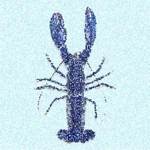 Nautical Blue lobster