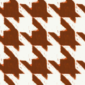 watercolor houndstooth-pumpkin