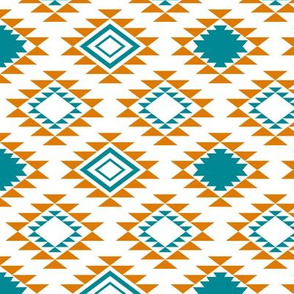 Orange Teal Aztec