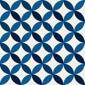 Circle Tessellation: Navy Two Tone