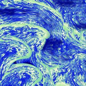 Watercolor Blue Swirl Dreams