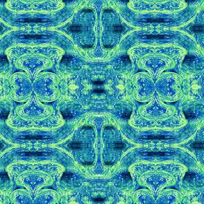 Watercolor Blue Green Swirls