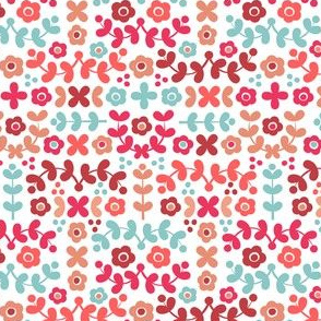 Folky Florals (reds)