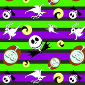 Purple and Green Halloween Stripes