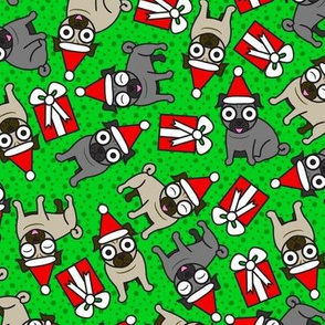Merry Pugs (Green)