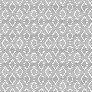Aztec Crosshatch Gray SMALL scale