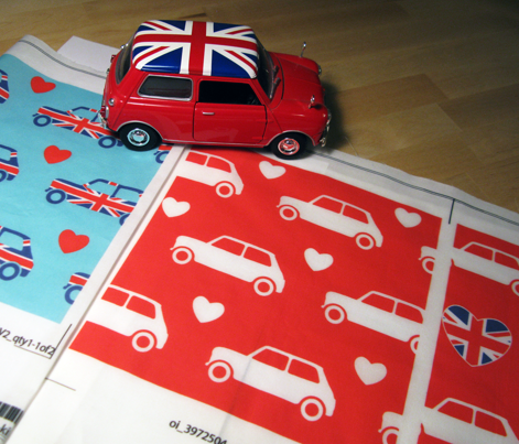 Mini Cooper Hearts - Red
