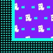 Kitty Kommunication Square Scarf