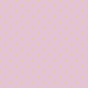 Pink with Gold Circles