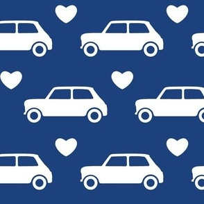 Mini Cooper Hearts - Blue