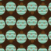 Retro Christmas Bulb Pattern