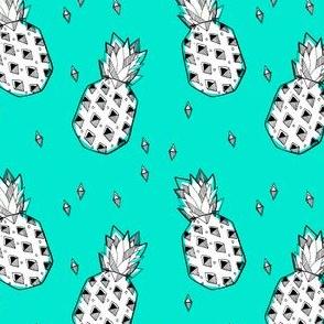 pineapple teal - elvelyckan