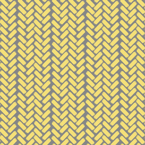 Painted herringbone_Grey/Yellow