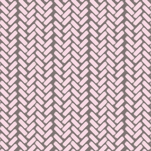 Painted herringbone-WmGrey/Pink