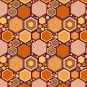 Hip Hexagons (Earthy Tones)