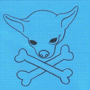 Chihuahua Pirate Flag Blue