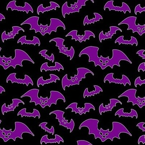 Halloween - Purple Bats