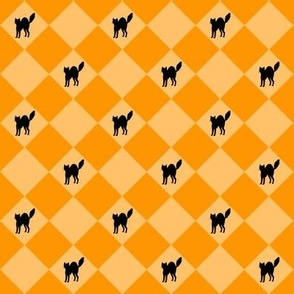 Halloween - Checkers & Cats