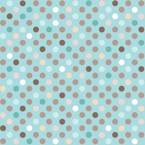 Cat polkadot blue