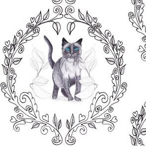 Cat Damask