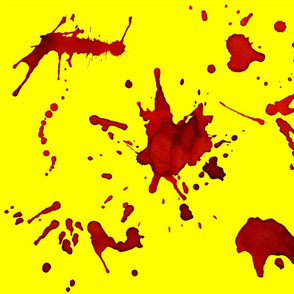 CRIME SCENE BLOOD SPLATTERS