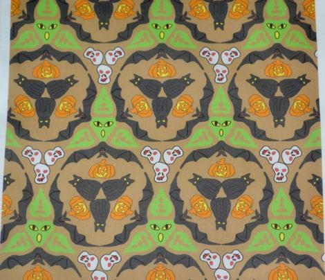 Bats, Cats, and Jacks on Tan