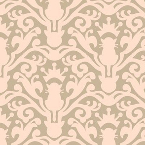 Royal Cat Damask
