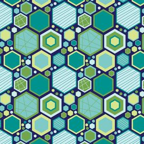 Hip Hexagons (Ocean)