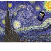 Starry Tardis Night Large