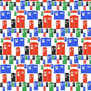 Mondrian Phone Boxes