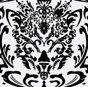 Cat Face Damask
