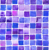 watercolor squares blue-violet