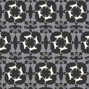 Cat Square Dance grey_black_creme_a