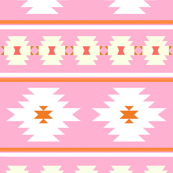 Aztec Stripe in Lilac and Tangerine